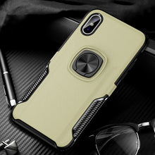 Load image into Gallery viewer, Anti-knock Metal Ring Car Silicone Case for iPhone X/XR/XS/8/7 Plus(BUY 2 TO GET 10% OFF)
