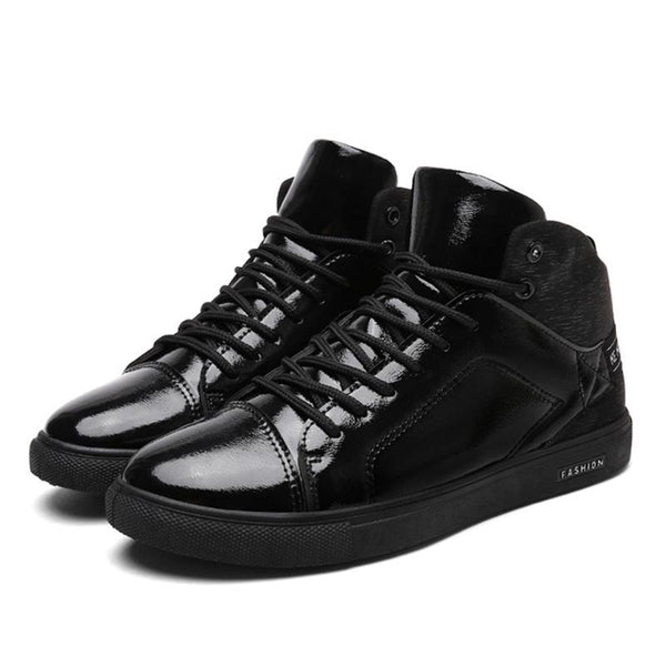 Fashion Leather Men Boots Casual Lace Up Shoes