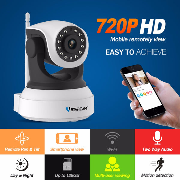 Wireless HD IP Camera Night Security Indoor Baby Monitor