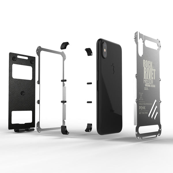 Shockproof Steel Flip Bracket Stand Case for iPhone X(BUY 2PCS TO GET 15% OFF)