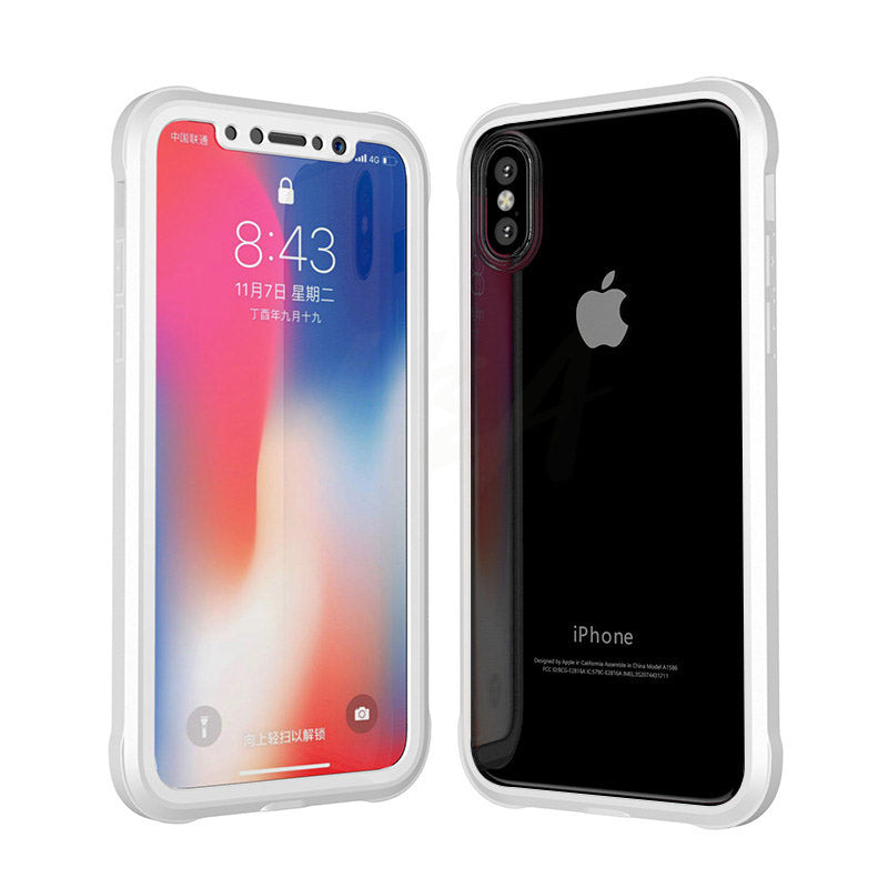 360 Degree Protective Phone Case For iPhone X/6/7/8 Plus +  Screen Protector