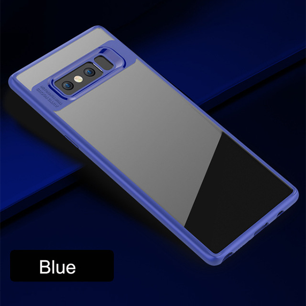 Transparent Soft Edge Hard Acrylic Case for Samsung Note 8