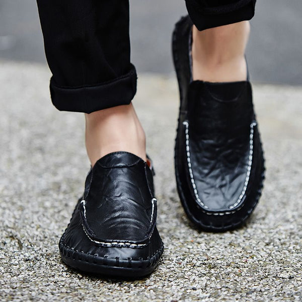 2018 Summer Men Slip On Leather Casual Shoes(BUY 2PCS TO GET 10% OFF)