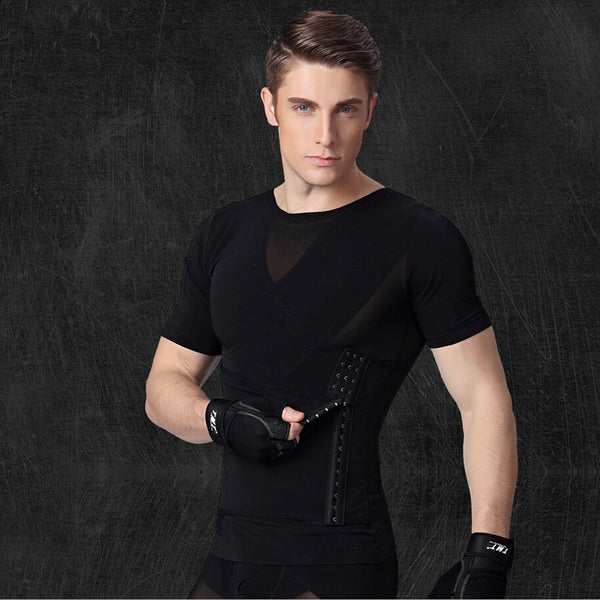 Men's T-shirt&Waist Corsets Breathable Body Shapers