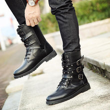 Load image into Gallery viewer, Fashion Retro British Style Men's Motorcycle Martin Boots