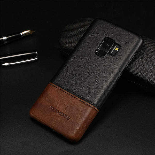Luxury Thin Vintage Leather Case for Samsung S9/S9 Plus