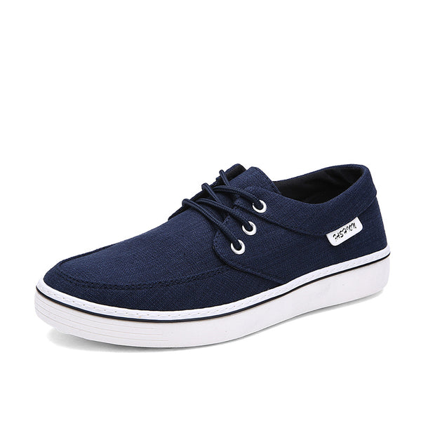 New Arrival Mens Lace-Up Flat Canvas Shoes