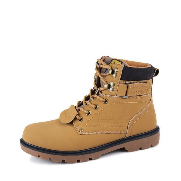 Fashion Casual Lace Up Safety Work Men Boot