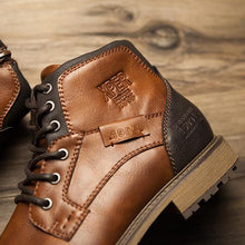 Load image into Gallery viewer, Big Size Vintage Style Men's High Cut Boots