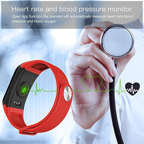Blood Pressure Heart Rate Monitor Pedometer Smart Bracelet