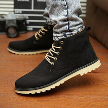 Load image into Gallery viewer, New 2017 PU Leather Men Boots Fashion Warm Cotton Brand ankle boots