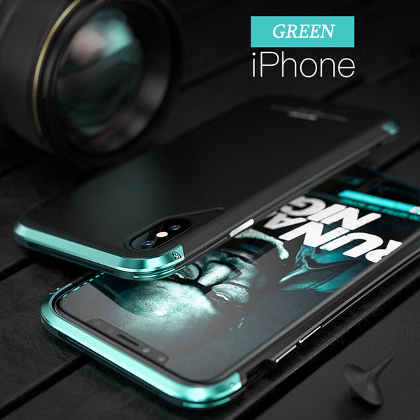 Ultra Thin Shockproof Metal Frosted Case for iPhone X