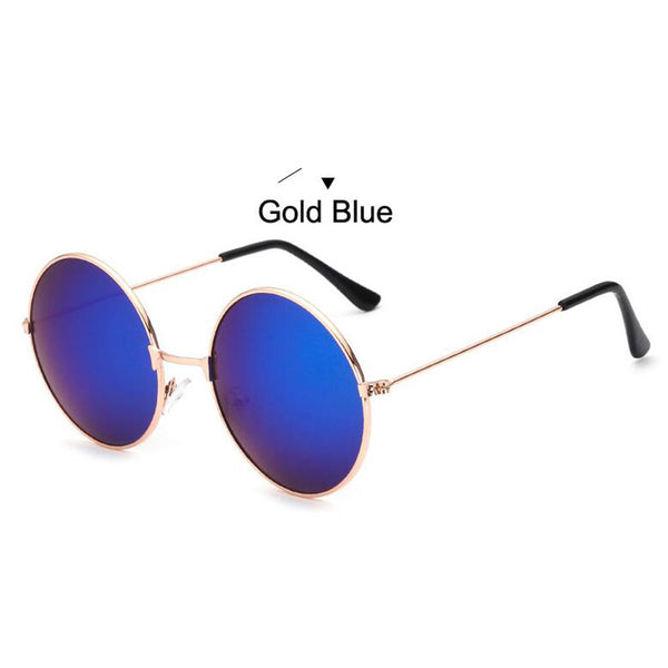 Retro Classic Mirror Round UV400 Frame Sunglasses