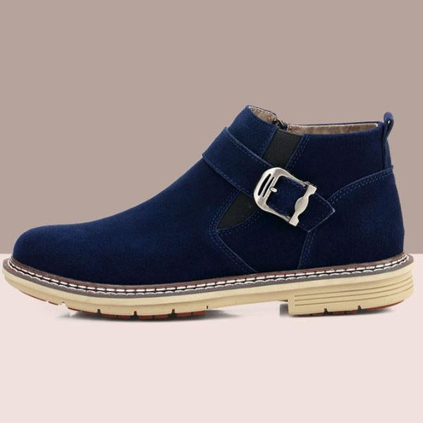 Fashion Winter Leather Warm Men Snow Boots