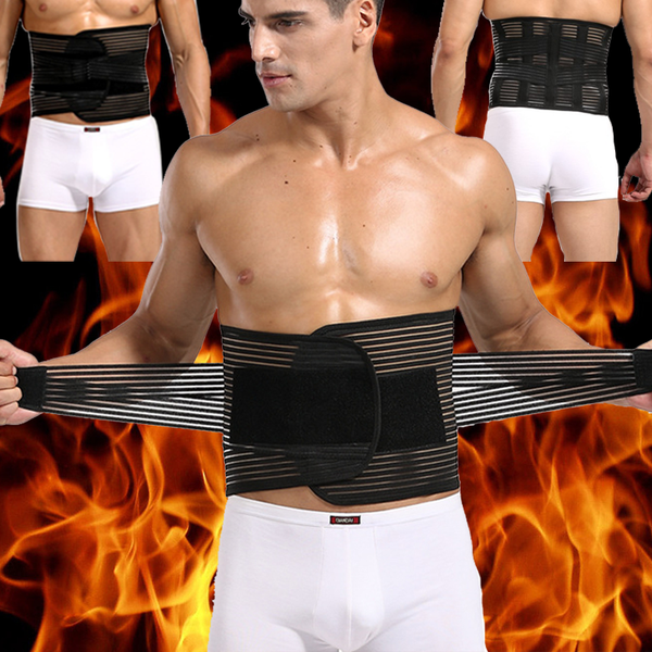 New Style Male Back Support Waist Wrap Abdomen Control Bands