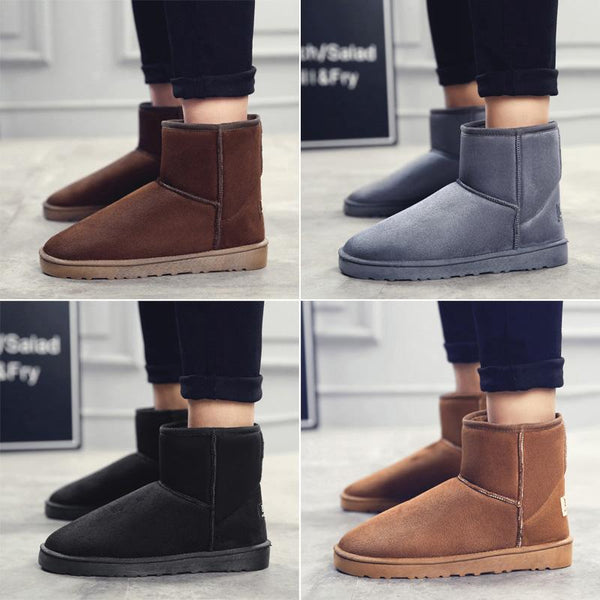 High Quality Flock Leather Waterproof Lovers Snow Boot