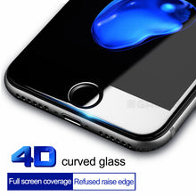 Load image into Gallery viewer, 4D Tempered Glass Screen Protector For iPhone 8 7 Plus