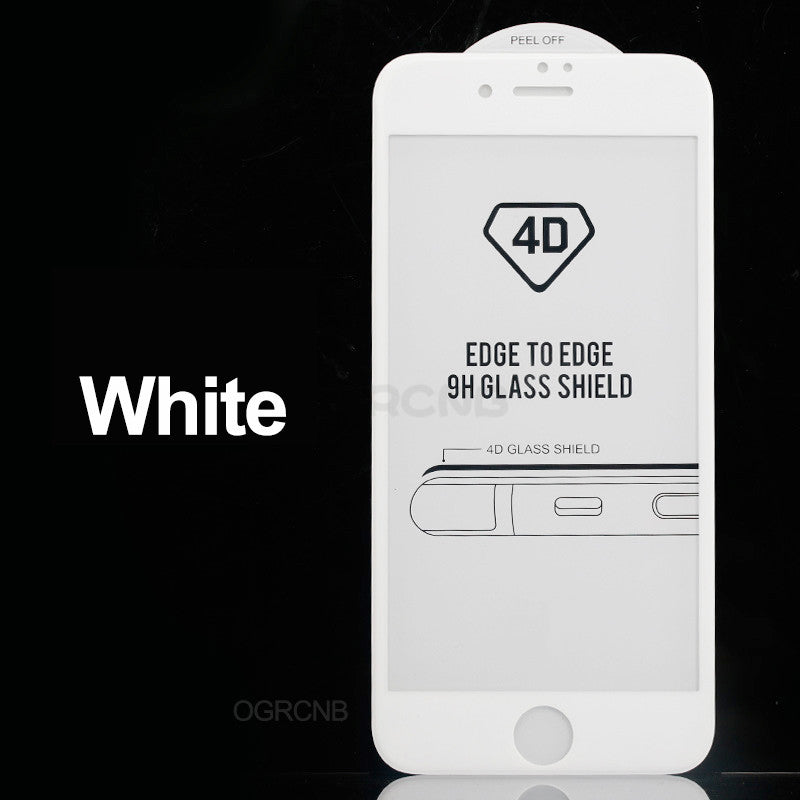 4D Tempered Glass Screen Protector For iPhone 8 7 Plus