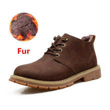 Load image into Gallery viewer, Hot Sale Men Fashion Lace Up High Quality Designer Furry Snow Boot