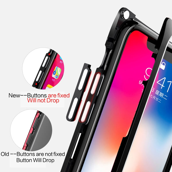 Magnetic Metal Tempered Glass Case For iPhone X/7/8 Plus(BUY 2PCS TO GET 15% OFF)