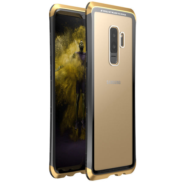 Metal Bumper Clear Tempered Glass Back Cover For Samsung S9/S9 Plus(BUY 2PCS TO GET 15% OFF)