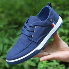 Load image into Gallery viewer, Shoes - Men's Breathable Solid Lace Up Denim Canvas Shoes