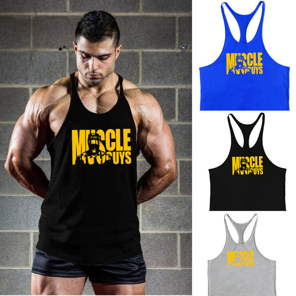 Muscleguys Gyms Bodybuilding Cotton Sleeveless Tank Tops(BUY 2PCS TO GET 10% OFF)