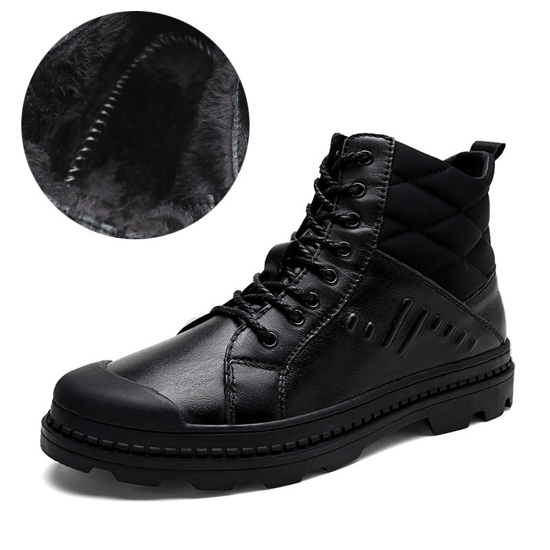 Winter Warm Men Big Size Leather Ankle Boots(BUY 2PCS TO GET 10% OFF)