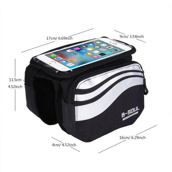 Bicycle Cycling Front Touch Screen 5.7 inch Phone Bag