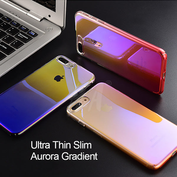 Blue Ray Gradient Light Case For iPhone X/8/7 Plus/6s
