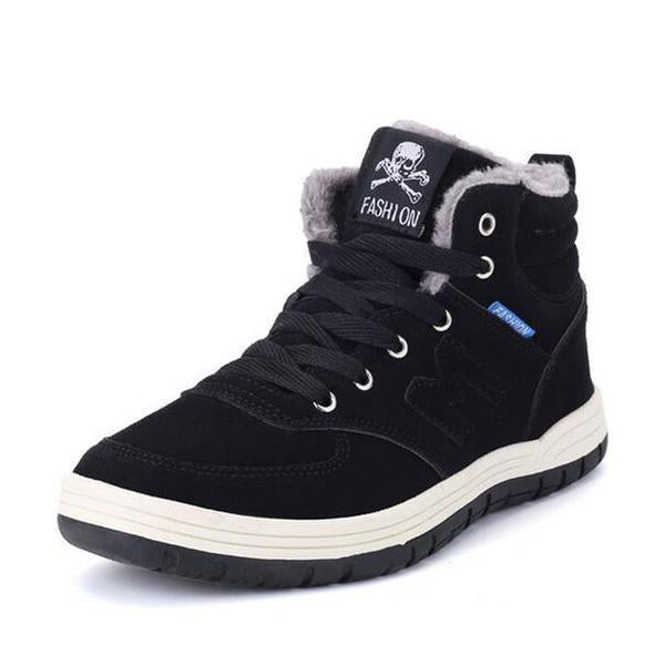 New Winter Outdoor Skull Men's Snow Boots