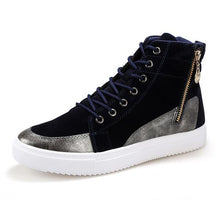Load image into Gallery viewer, Fashion PU Leather Heavy-Bottomed High Top Mens Shoes