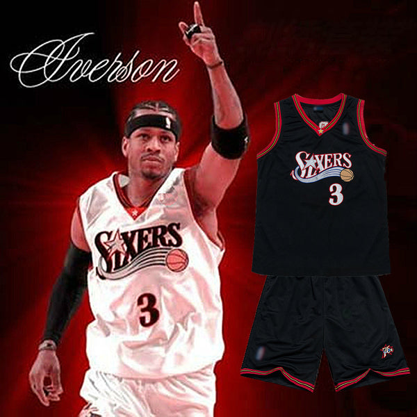 Mens Allen Iverson #3 Basketball Jersey(BUY 2 SETS TO GET 10% OFF)