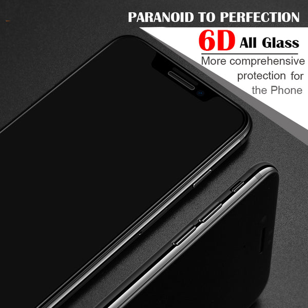 6D Full Cover Edge Tempered Glass For iPhone 8 7 6S Plus X