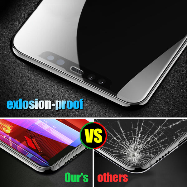 6D Tempered Glass Screen Protector  For iPhone X 10 7 8 6 6 s Plus