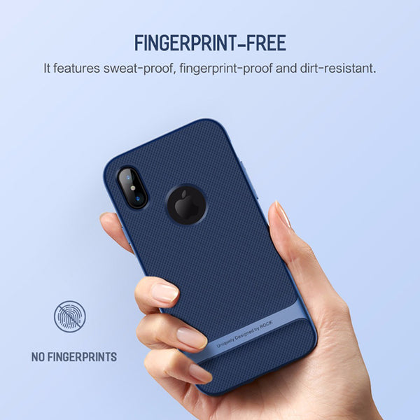 Anti-knock Hard PC+Soft TPU Slim Cover for iPhone X