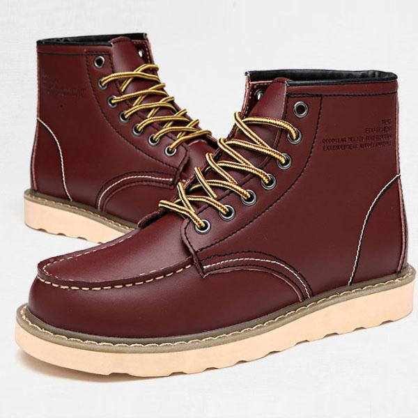 Men Lace Up Warm  Winter Snow Boots