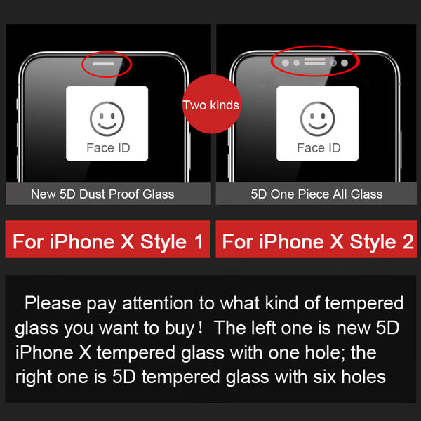 5D Curved Edge Tempered Full Protective Film For iPhone X/6/7/8 Plus(BUY 2PCS TO GET 15% OFF)