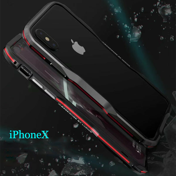 Aluminum Metal Exquisite Cutting Prismatic Case For iPhone X