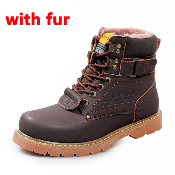Winter Men Boots High Quality Male Genuine Leather Boots