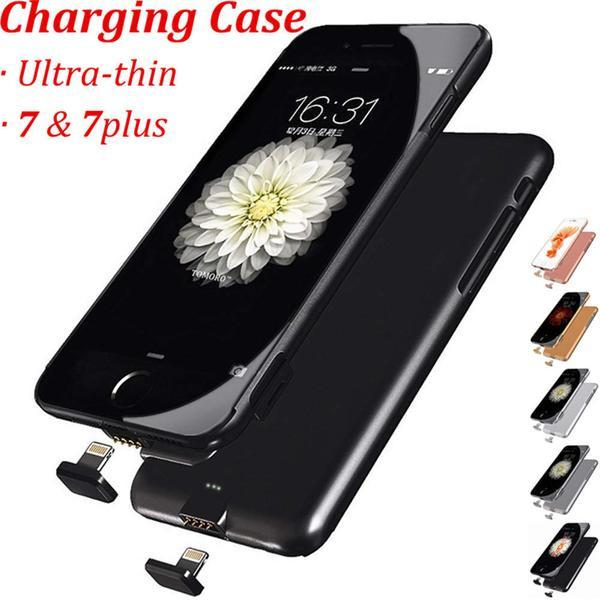 Thin Ultra Slim Case Battery Smart Charging Cover For iPhone 7