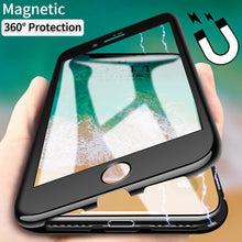 Load image into Gallery viewer, Magnetic Adsorption Metal Case with Screen Protector for iPhone X/6/7/8 Plus(BUY 2PCS TO GET 15% OFF)