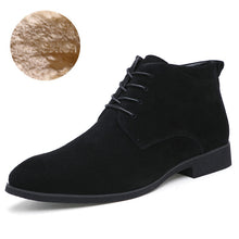 Load image into Gallery viewer, Winter Men Genuine Leather British Style Fur Boots