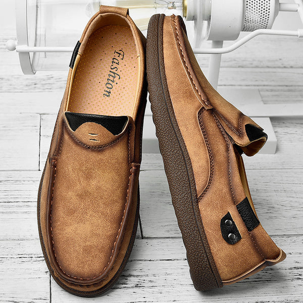Classic Fashion Mens Breathable Split Leather Shoes(BUY 2PCS TO GET 10% OFF)