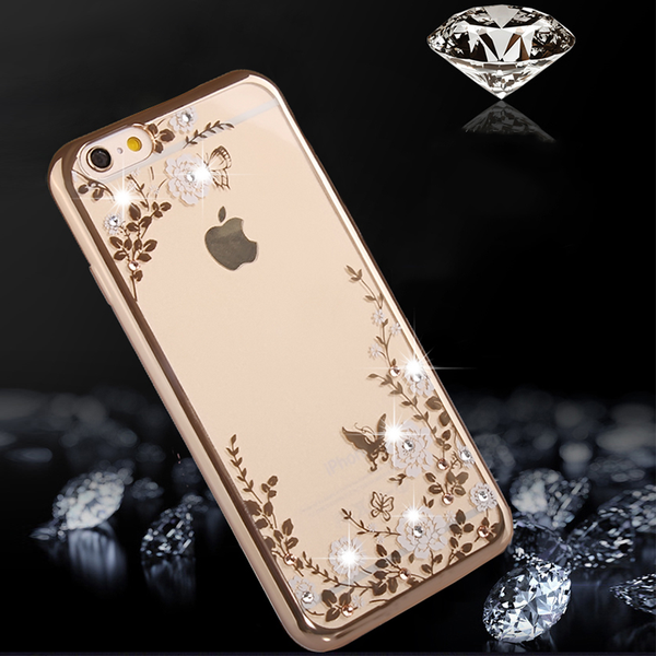 New Fashion Luxury Clear  Soft Silicone  Cover For IPhone