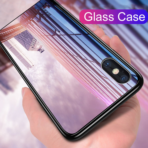 Luxury Silicone Tempered Glass Case for iPhone X/7/8 Plus(BUY 2PCS TO GET 15% OFF)