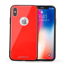 Load image into Gallery viewer, Luxury Ultra Thin Clear Tempered Glass + Soft TPU Frame Cases For iPhone X 8 7 6S 6/Plus