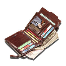 Load image into Gallery viewer, Fashion Cow Leather Zipper Wallet