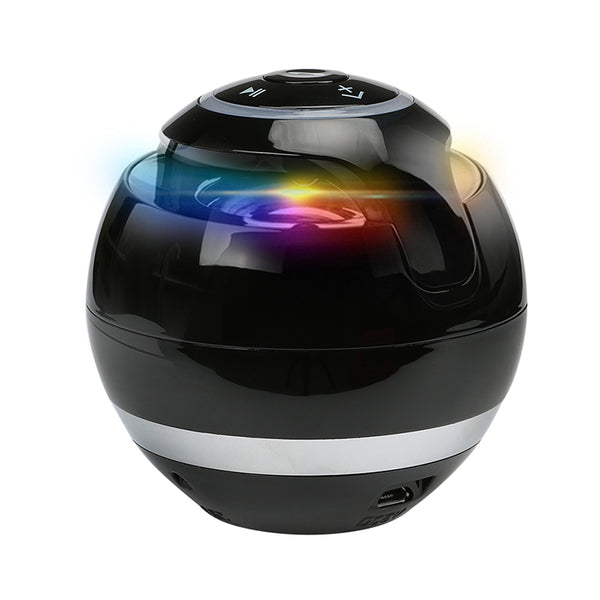 Mini Portable Wireless Speaker with Mic TF Card FM Radio LED Light