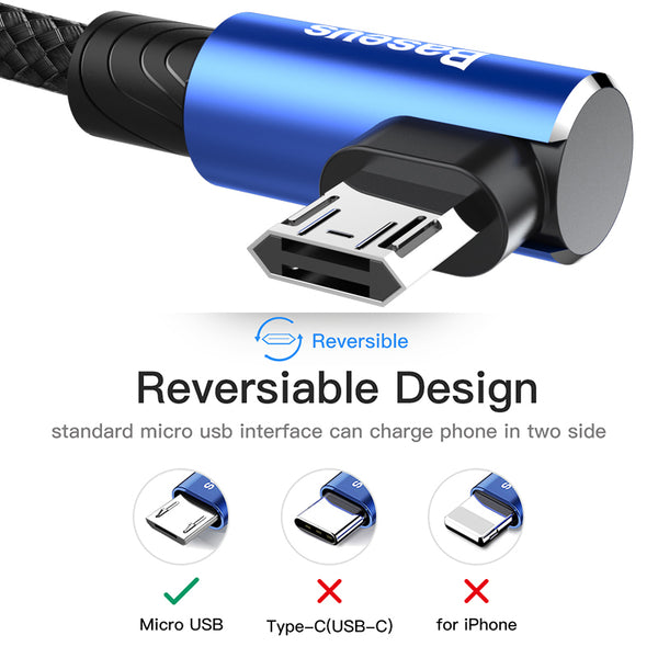Reversible Micro USB Cable For Samsung